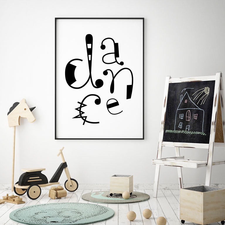 Dance Whimsical Playroom Print