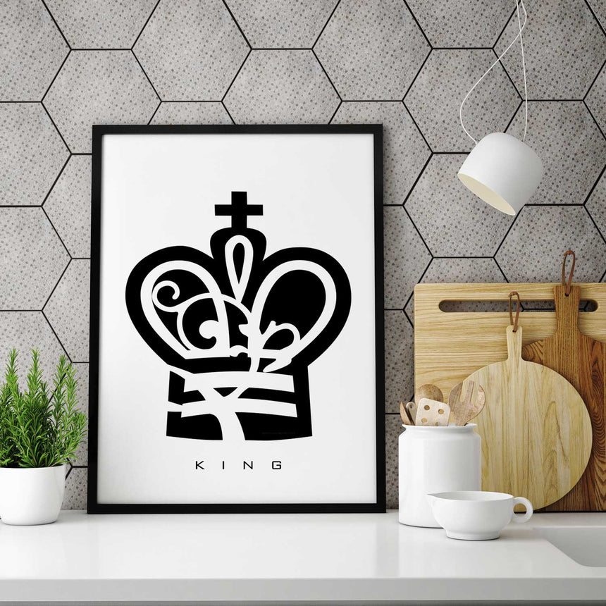 King Chess Piece Print in Kitchen