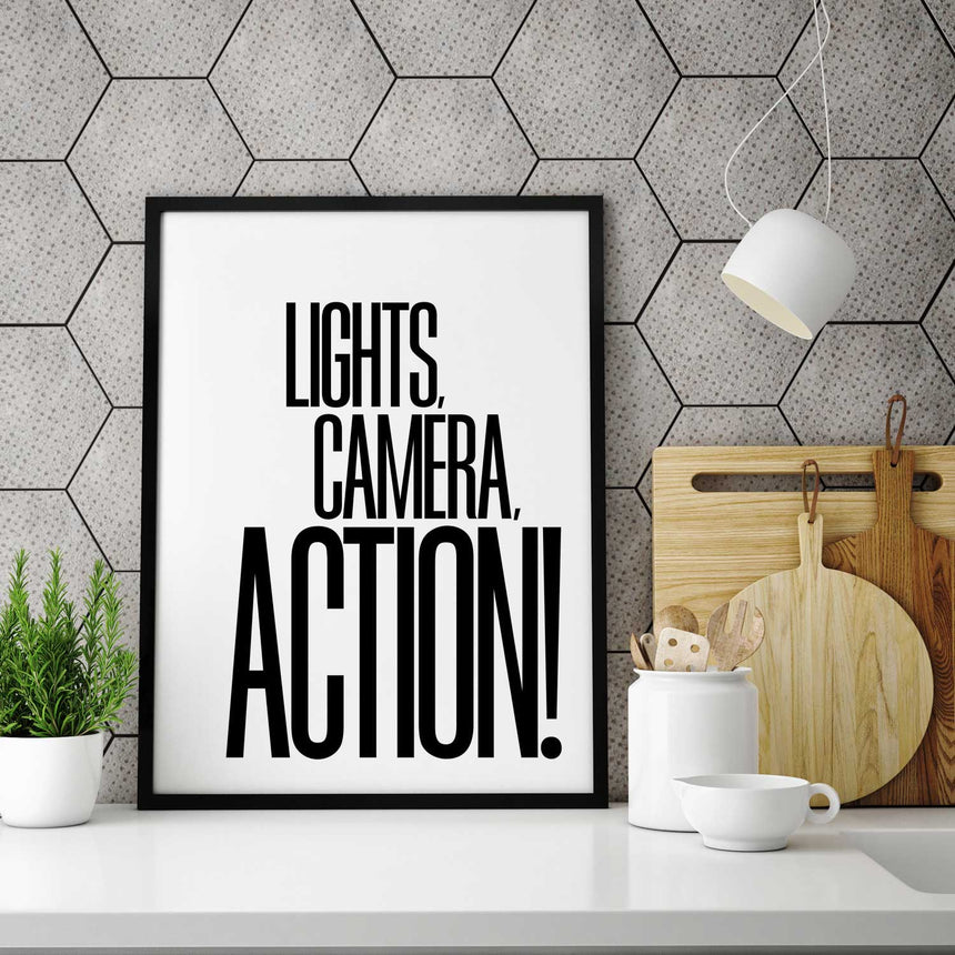 Lights, Camera, Action! - Wall Decor