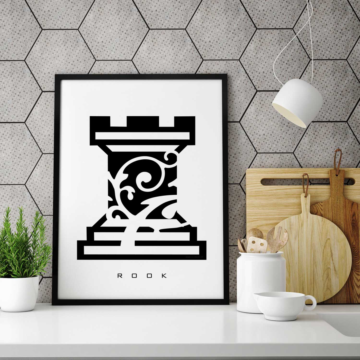 ROOK - Chess Piece - Wall Decor
