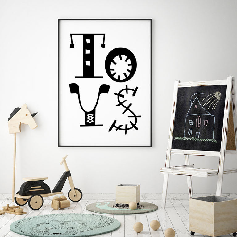TOYS Whimsical Playroom Print