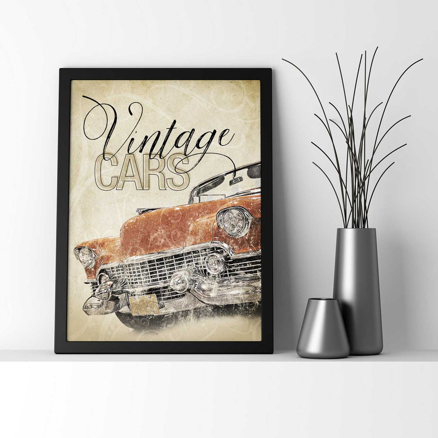 Vintage Cars - Wall Decor