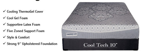 "Back Performance COOL TECH 10"" Foam Core Mattress with Gel - King Size"