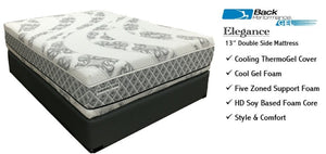 "Back Performance ELEGANCE (13"" Double Sided Mattress) with Cool Gel Foam - Queen Size"