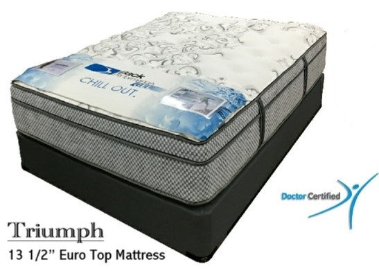 "Back Performance TRIUMPH (13.5"" Euro Top Mattress) with Cooling Gel Foam - Queen Size"