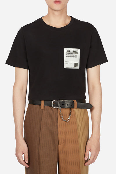 Maison Margiela - Stereotype Patch Tee Black