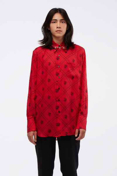 Ernest W. Baker - Classic Shirt Red W/ Print