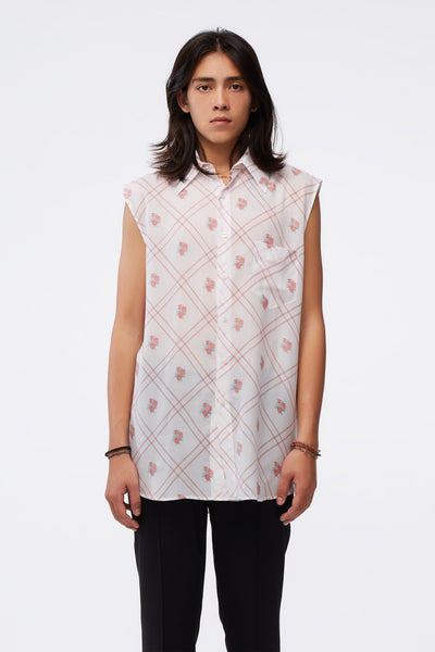 Ernest W. Baker - Sleeveless Shirt White W/ Print