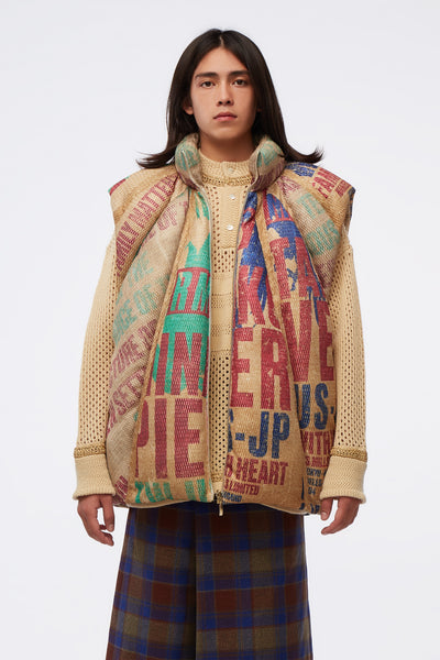 NAMESAKE - Durham Panelled Down Vest Multi Graphics
