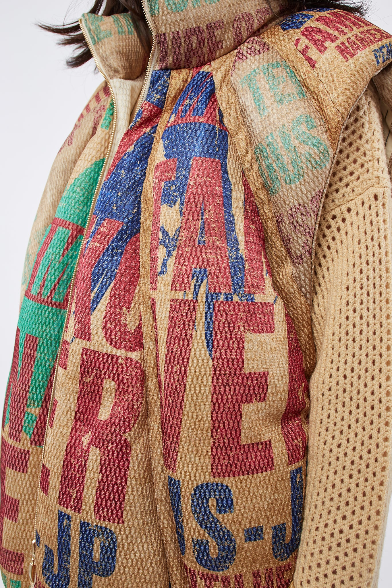 Durham Panelled Down Vest Multi Graphics