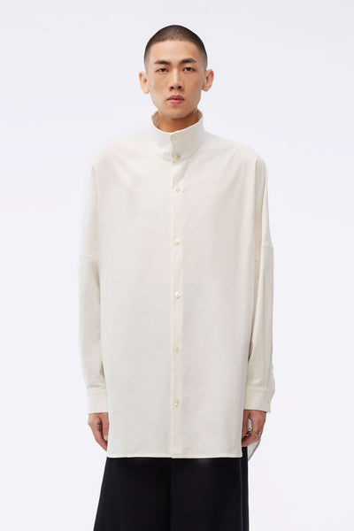 NAMESAKE - Adams Turtleneck Shirt Pearl White
