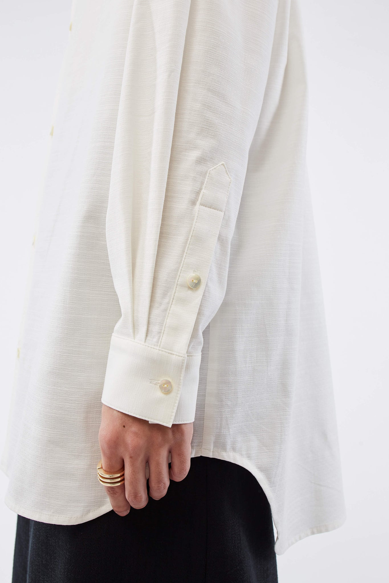 Adams Turtleneck Shirt Pearl White