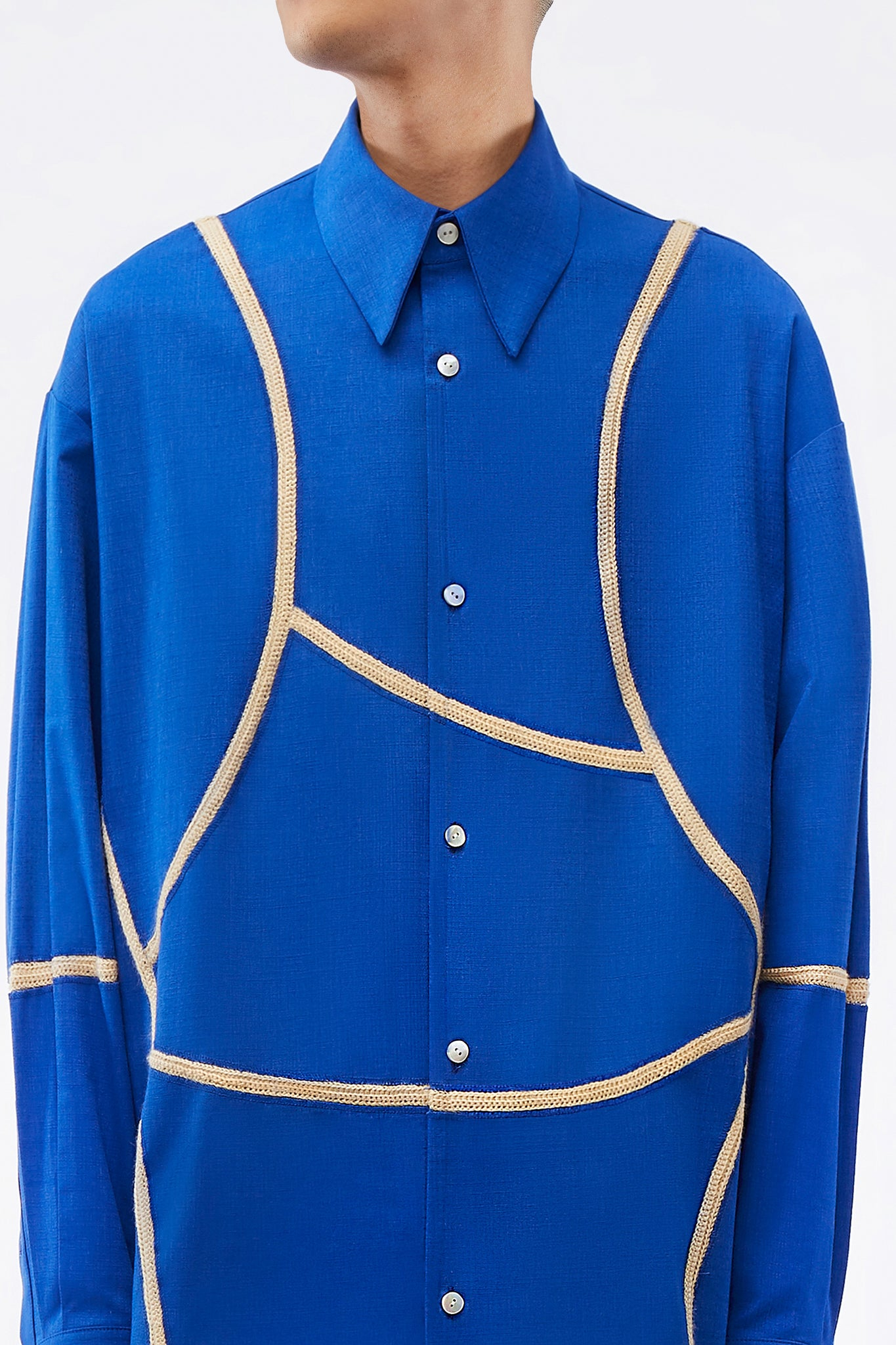 Velva Curved Shirt Electric Blue