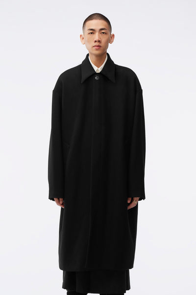 NAMESAKE - Corbis Oversized Mac Coat Black