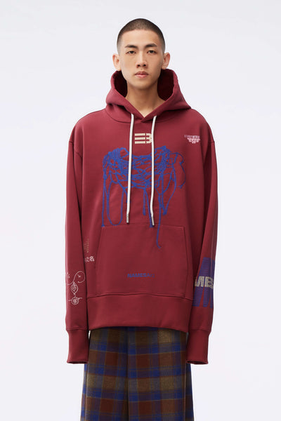 NAMESAKE - Sava Oversized Hoodie Red Plum