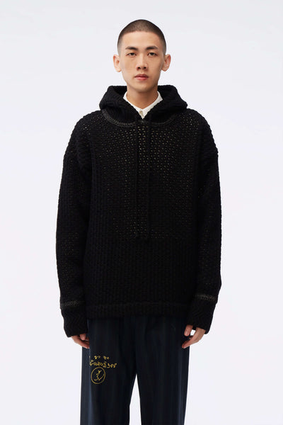 NAMESAKE - Elwood Oversized Knit Hoodie Black
