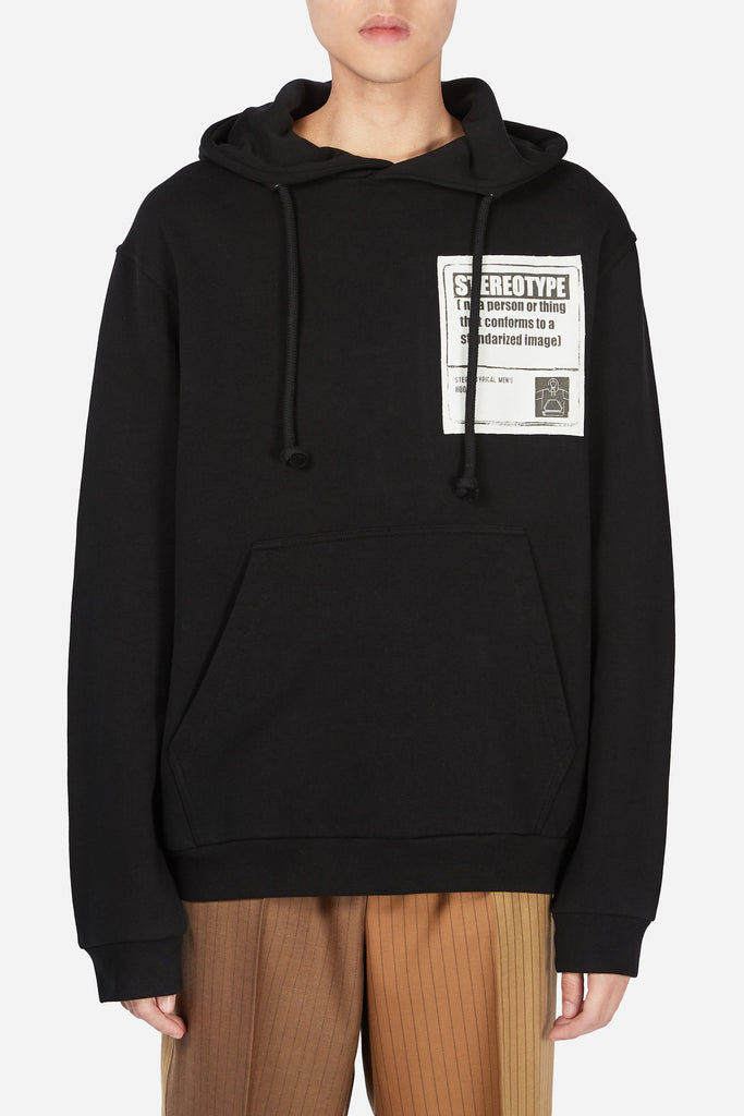 Stereotype Patch Hoodie Black