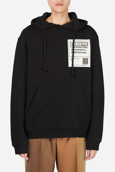 Maison Margiela - Stereotype Patch Hoodie Black