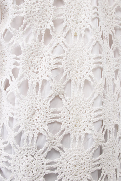 White Vintage Crochet Tank Top