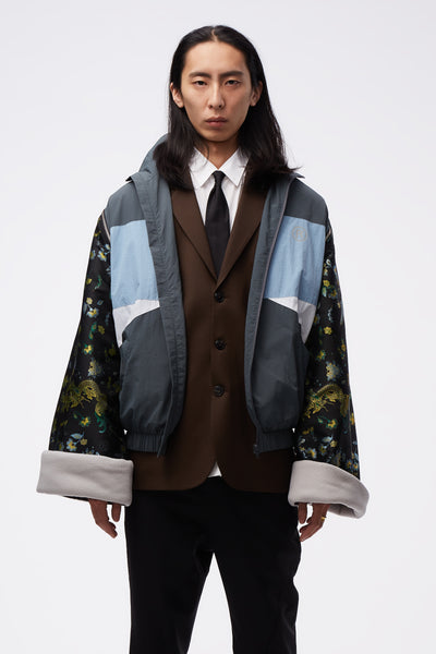 Martine Rose - Track Jacket W/ Jacquard Sleeves Grey