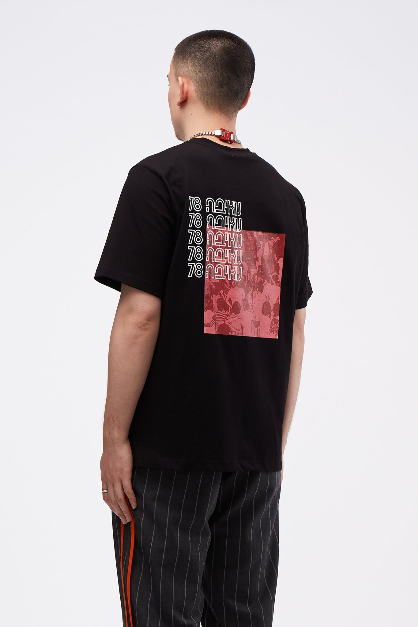 Short Sleeve Red Moon Above Nuweiba T-shirt Black