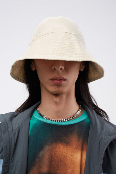 Vyner Articles - Bucket Hat With Treatment Calico/ White