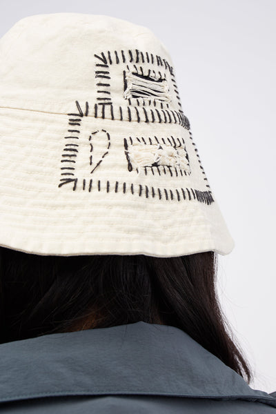 Bucket Hat With Treatment Calico/ White