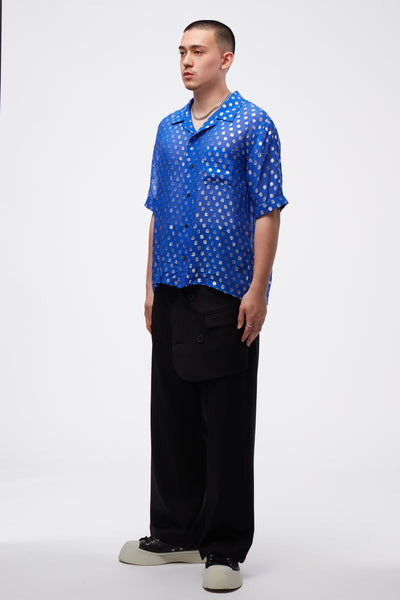 Luka Bowling Shirt Boxy Fit Blue