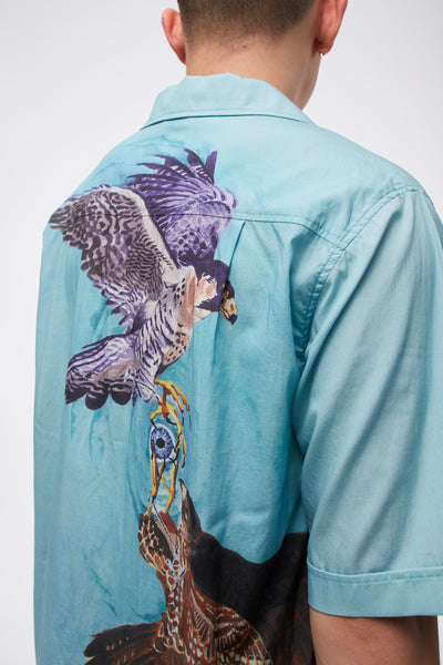 Luka Bowling Shirt With Digital Falcon Print