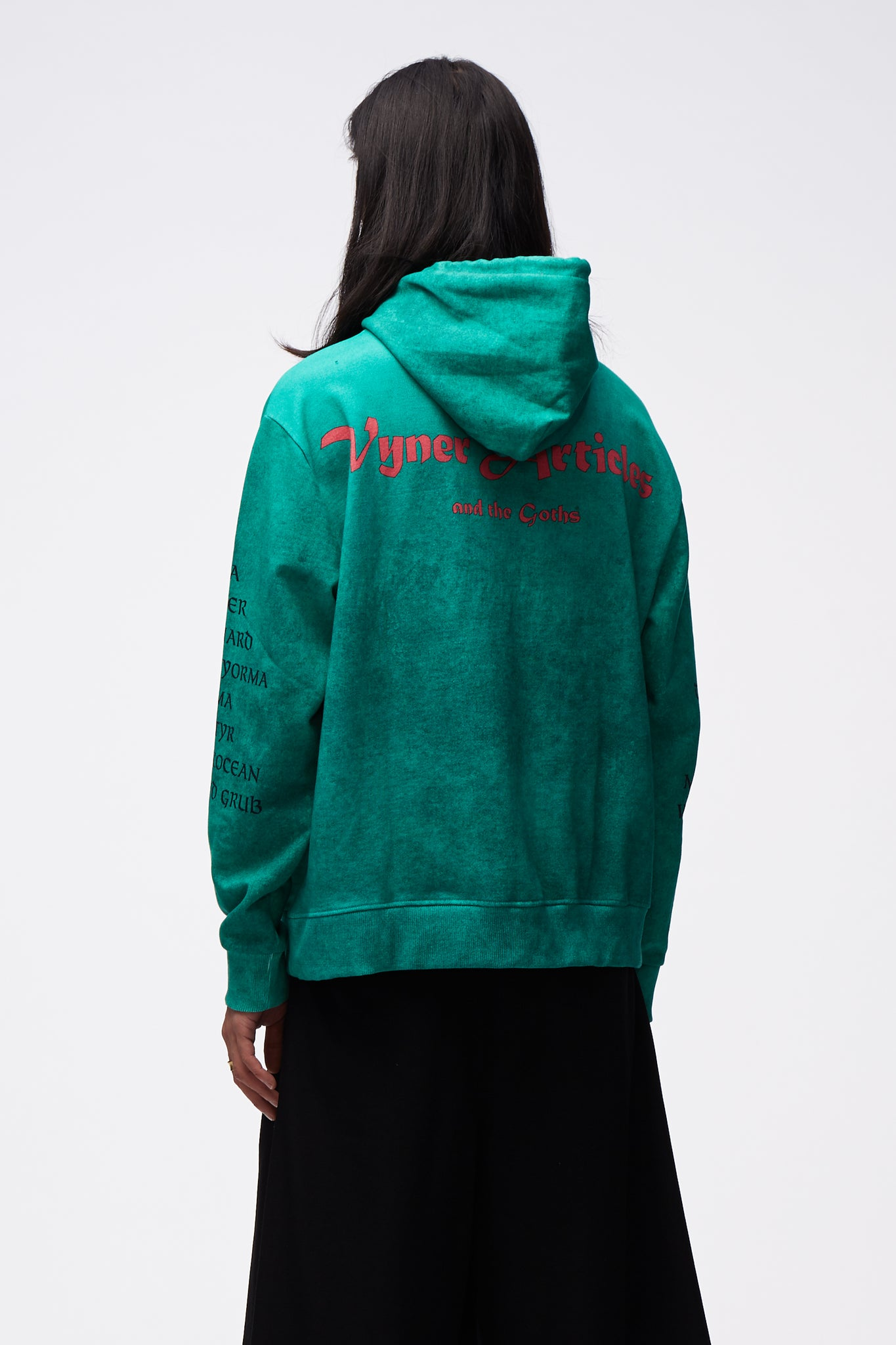 Hoodie With The Goths Digital PR Green