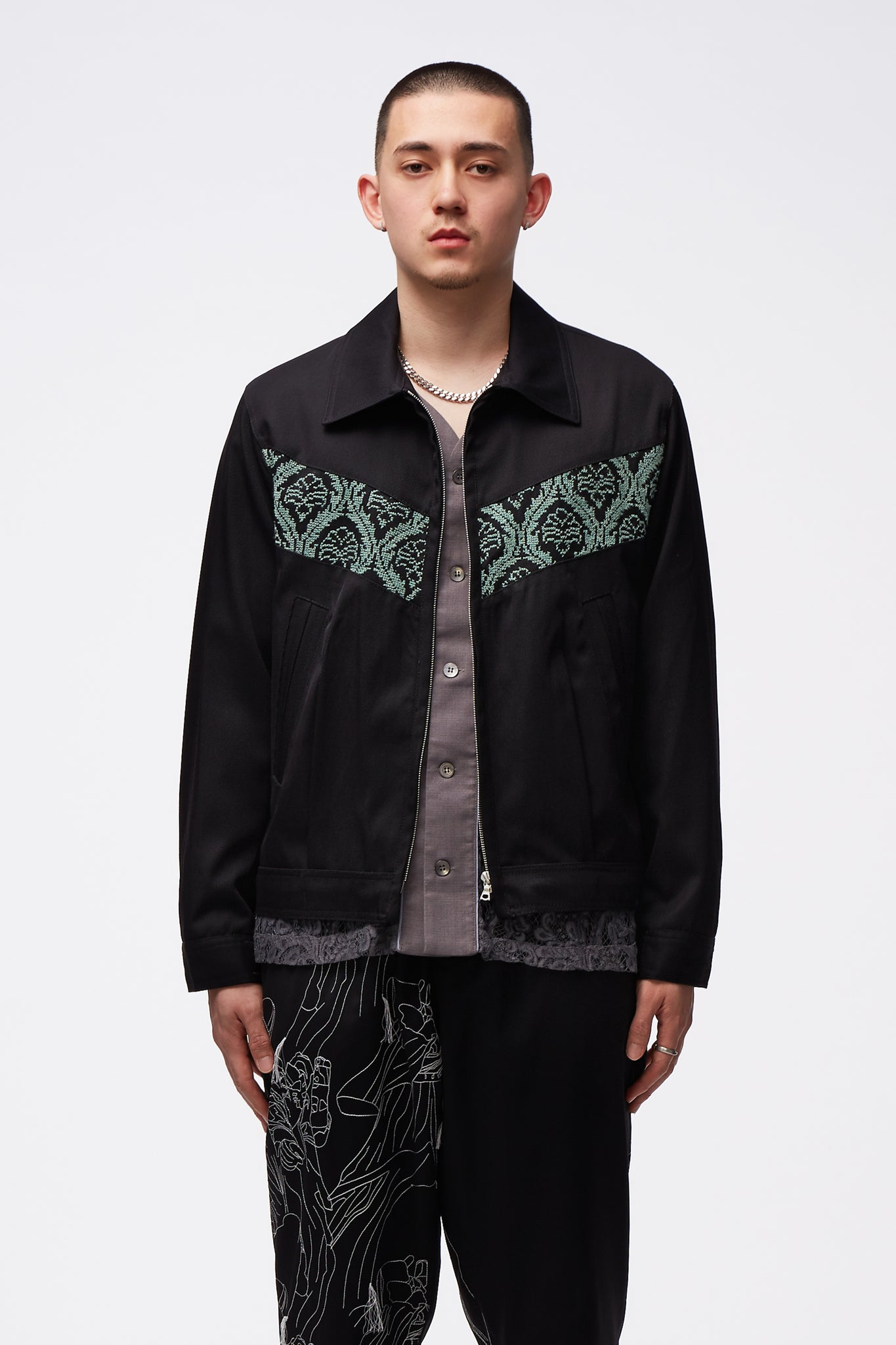 Sawsanas Wool Zip Jacket Black