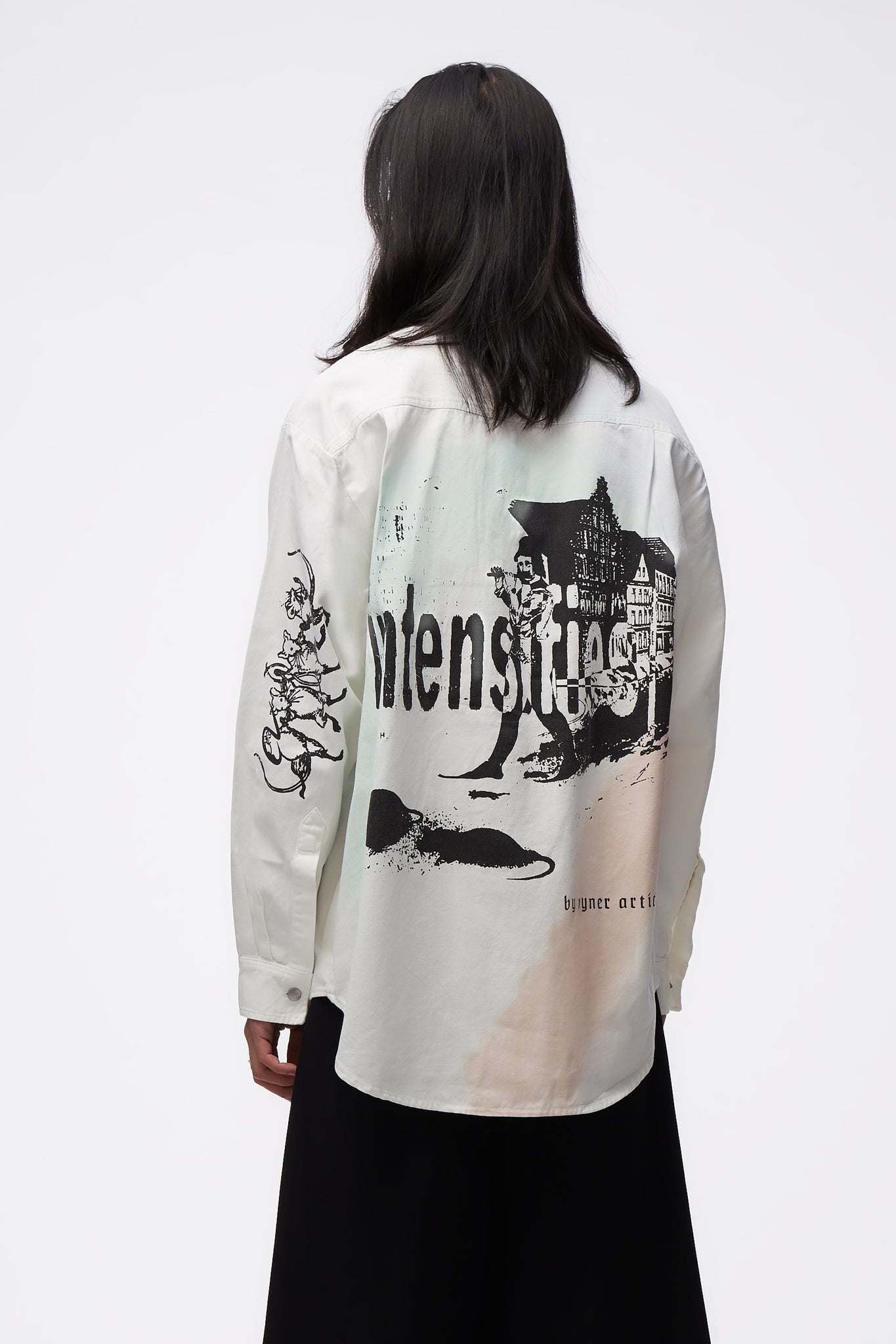 Oversize Shirt With Print & Treatment Amnesia Scanner Print WH