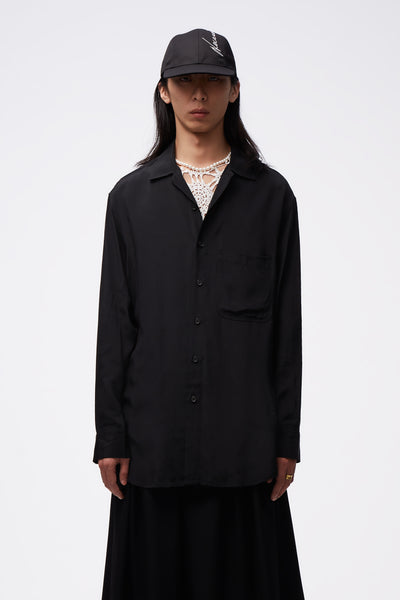 Song for the mute - L/S Oversized Shirt Black