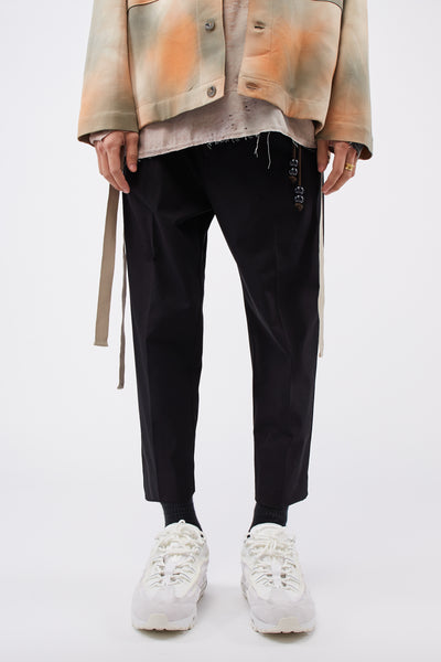 Song for the mute - Pleated Tapered Pant Black