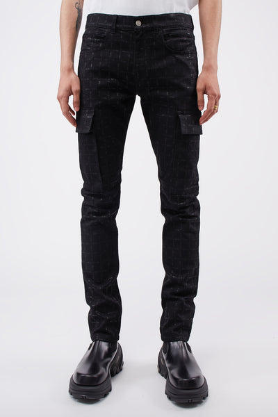 1017 Alyx 9sm - Cargo Logo Denim Pants Black