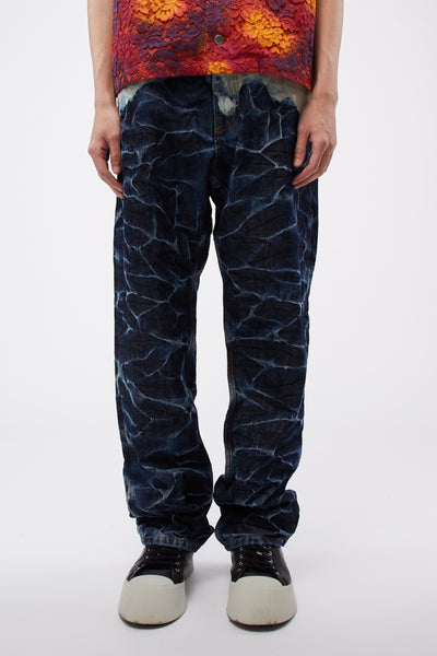 Martine Rose - Crinkle Jeans W/ Bleach