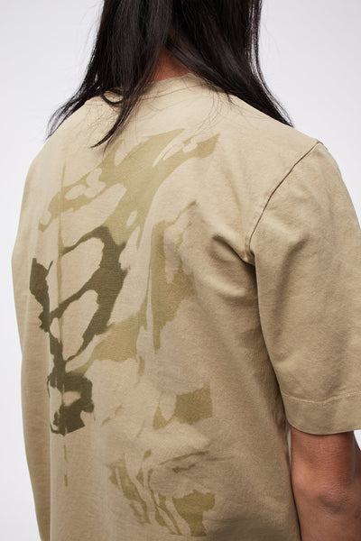 SS Tee Serigraphic Print Dark Tan