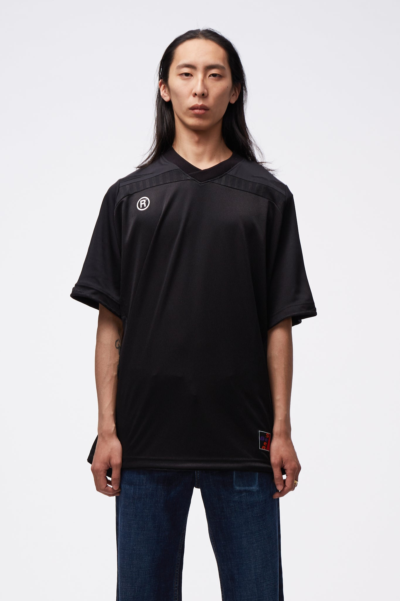 Two-way Football Top Black