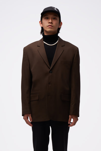 Second / Layer - 3 Button Chulo Jacket Espresso