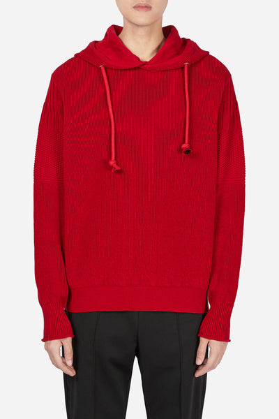 Maison Margiela - Knit Hoodie Red