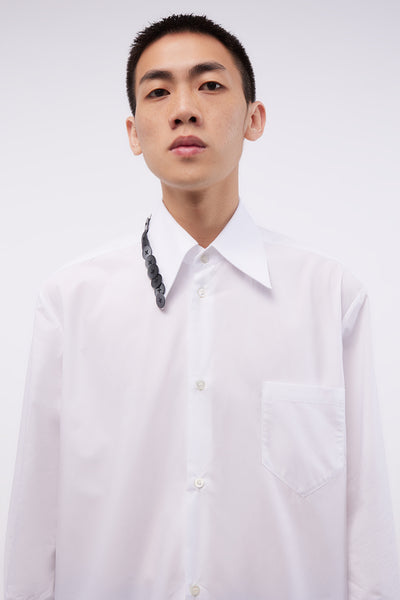 Shirt With Embroidery White