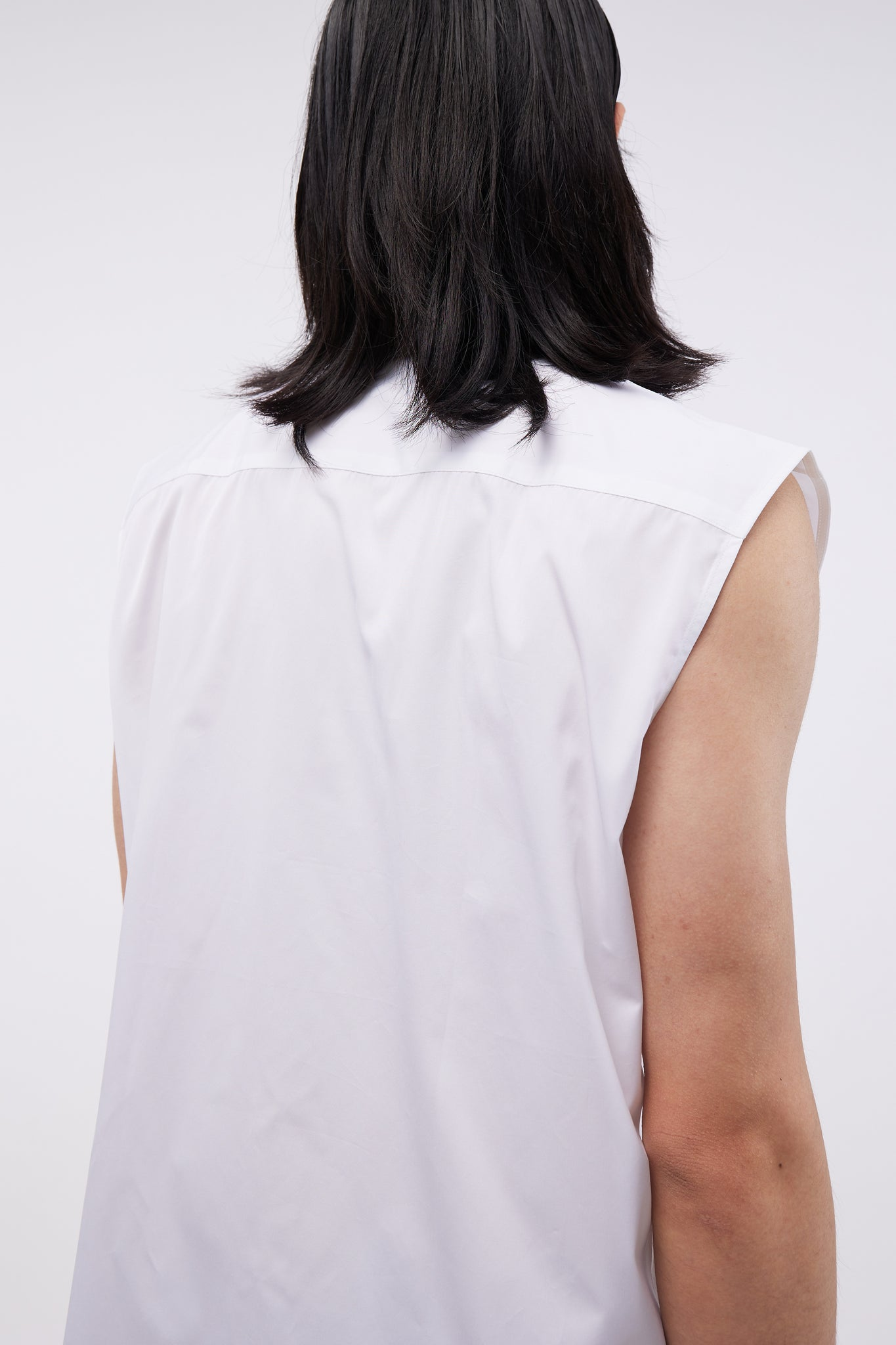 Sleeveless Shirt Light White