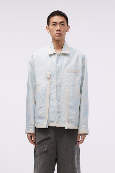 Jacquemus - Le Blouson Grain Print Blue Leaves