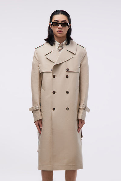 Ernest W. Baker - Removable Sleeves Trench-coat Eco Beige