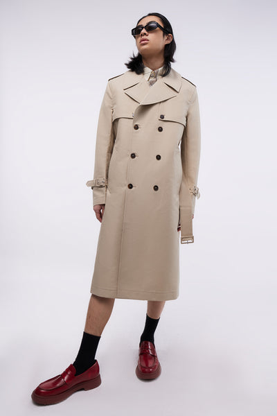 Removable Sleeves Trench-coat Eco Beige