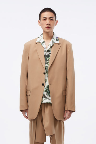 CMMN SWDN - Mathieu SB Blazer Concealed Zips In Sleeve Sand