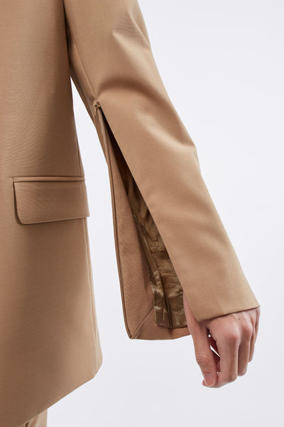 Mathieu SB Blazer Concealed Zips In Sleeve Sand