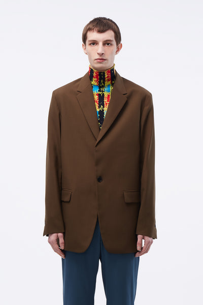 CMMN SWDN - Mathieu SB Blazer Concealed Zips In Sleeve Brown