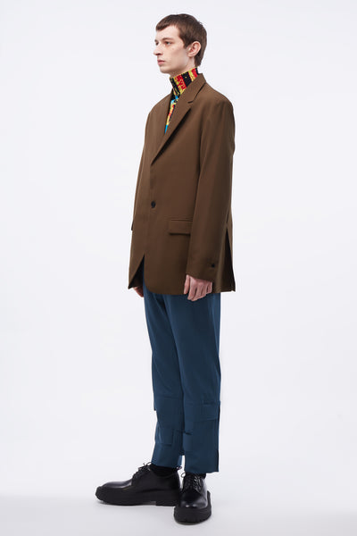 Mathieu SB Blazer Concealed Zips In Sleeve Brown