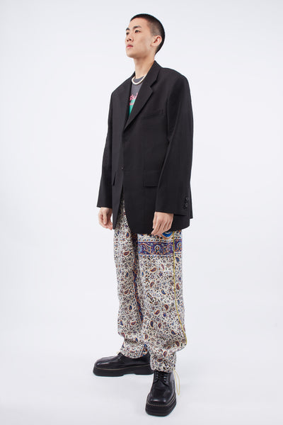 Iranian Print Pleat Trouser